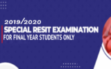Special Resit Examination for Final Year Students