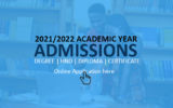 2021/2022 Academic Year Admissions Open – Apply Now